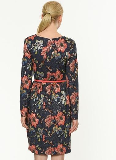Uzun Kollu Çiçekli Elbise-Jus De Pommes
